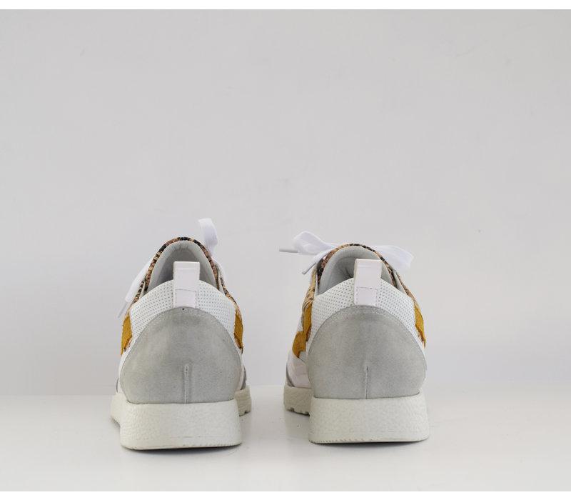 Sneaker Roos wit met slangenprint -PRE-ORDER