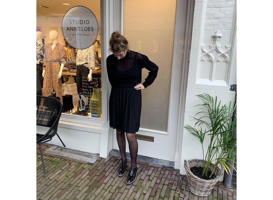 Veterschoen Ingeborg- zwart lakleer