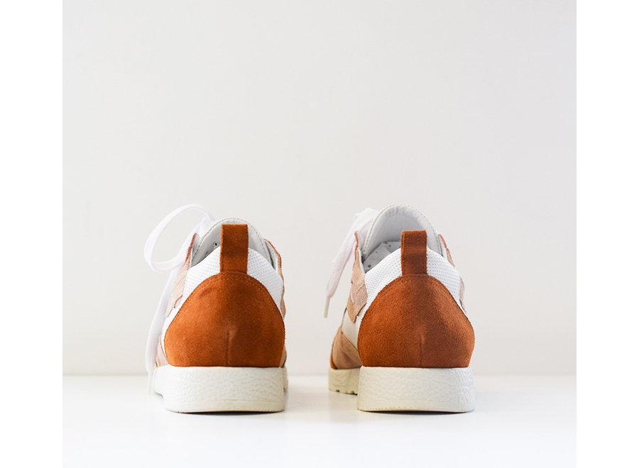 Sneaker Roos wit/beige