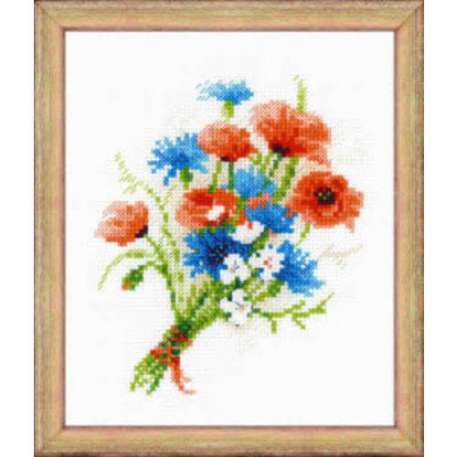 RIOLIS Bouquet with cornflowers