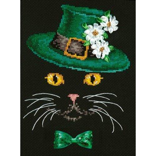 Chudo Igla Black cat - Green Hat