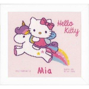 Vervaco Telpakket kit Hello Kitty op unicorn