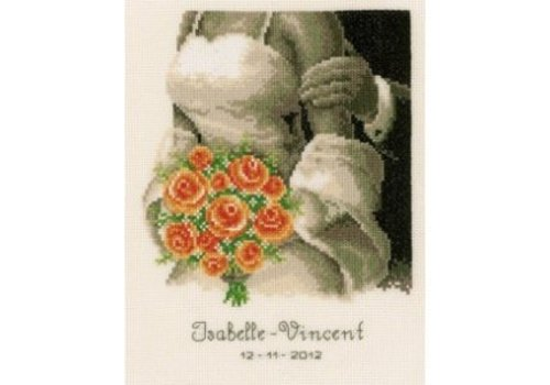 Vervaco Telpakket kit Huwelijksbloemen