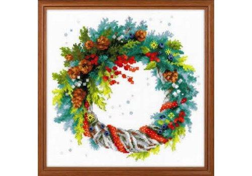 RIOLIS Wreath with Blue Spruce