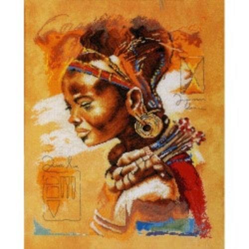 Lanarte Telpakket kit Afrikaanse vrouw