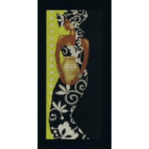 Lanarte African lady with vase