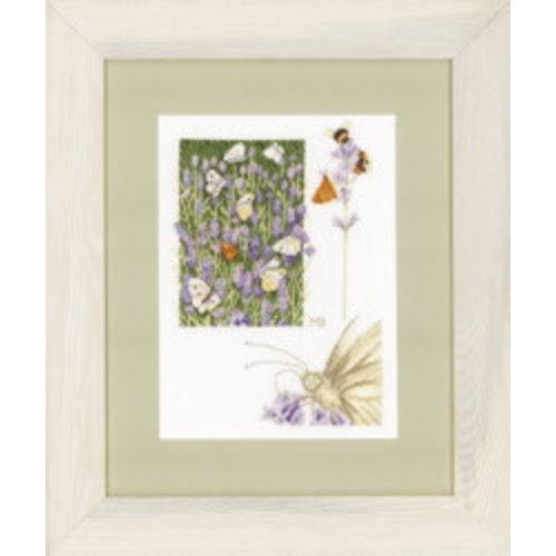Lanarte Telpakket kit Lavendelveld met vlinder