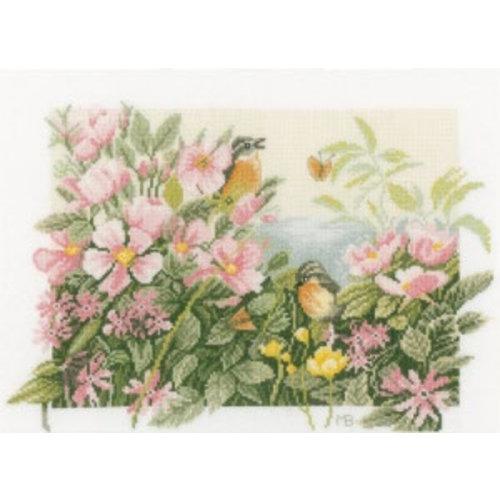 Lanarte Telpakket kit Vogeltjes en wilde rozen