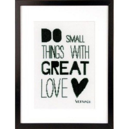 Vervaco Telpakket kit Do small things with great love
