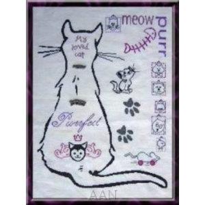 Alessandra Adelaide Needleworks My Cat Sampler
