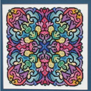 Ink Circles Borduurpatroon Kaleidoscope