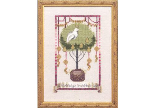 Nora Corbett 12 Days of Christmas - Partdridge in a Pear Tree - patroon