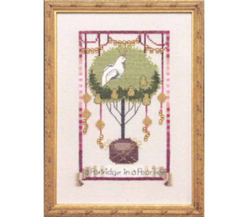 Nora Corbett 141 - 12 Days of Christmas - Partdridge in a Pear Tree - patroon