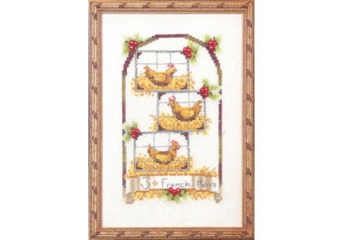 Nora Corbett 12 Days of Christmas - Three French Hens - patroon