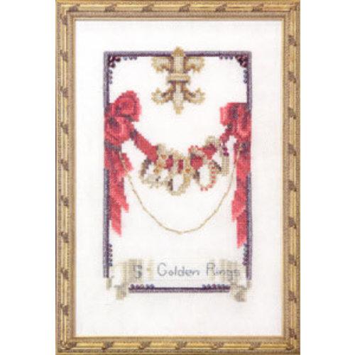 Nora Corbett Nora Corbett 145 - 12 Days of Christmas - Five Golden Rings - patroon