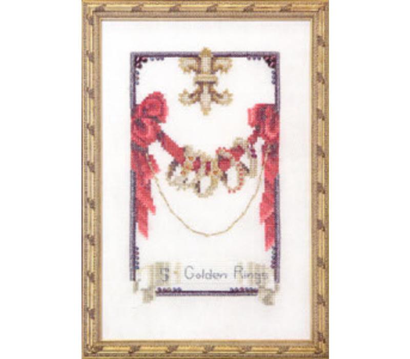 Nora Corbett 145 - 12 Days of Christmas - Five Golden Rings - patroon