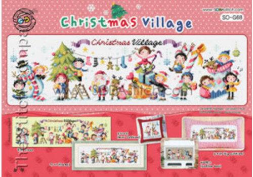 Soda Stitch Christmas Village