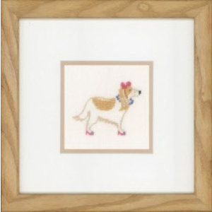 Lanarte Dog in pink bow