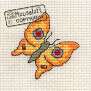Mouseloft Borduurpakket Bright Butterfly - Mouseloft