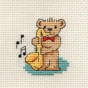 Mouseloft Borduurpakket Saxophone Teddy - Mouseloft