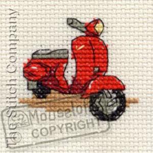 Mouseloft Borduurpakket Red Scooter - Mouseloft