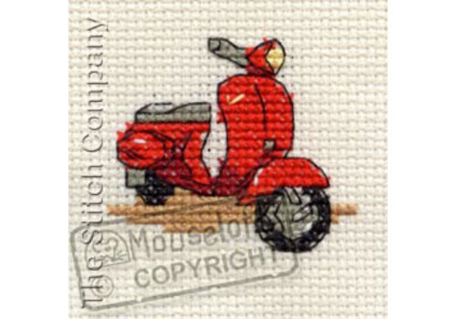 Mouseloft Borduurpakket Red Scooter - Mouseloft
