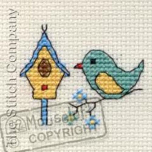 Mouseloft Borduurpakket Bird & Birdhouse - Mouseloft