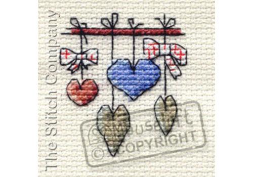 Mouseloft Borduurpakket Dangling Hearts - Mouseloft