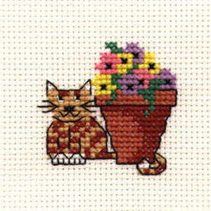 Mouseloft Borduurpakket Flowerpot Cat - Mouseloft