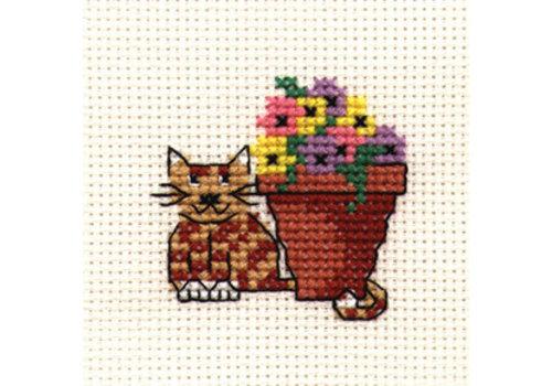 Mouseloft Borduurpakket Flowerpot Cat - Mouseloft