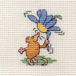 Mouseloft Borduurpakket Flower Mouse - Mouseloft