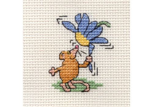 Mouseloft Borduurpakket Flower Mouse - Mouseloft