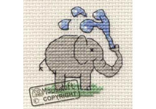 Mouseloft Borduurpakket Playful Elephant - Mouseloft