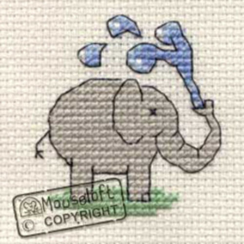 Mouseloft Borduurpakket Playful Elephant - Mouseloft