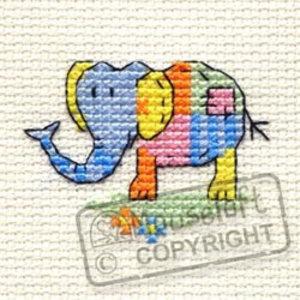 Mouseloft Borduurpakket Patchwork Elephant - Mouseloft