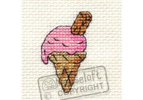 Mouseloft Borduurpakket Pink Ice Cream - Mouseloft