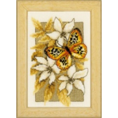 Vervaco TP min Vlinders en bloemen aida