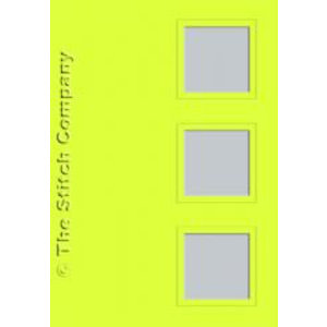 The Stitch Company Set 3 kaarten met enveloppe - lime