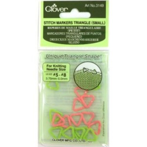 Clover Steekmarkeerders - Stitch Markers Triangel (small)