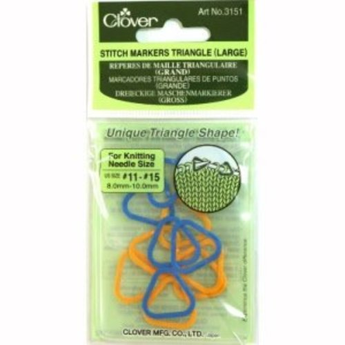 Clover Steekmarkeerders - Stitch Markers Triangel (large)