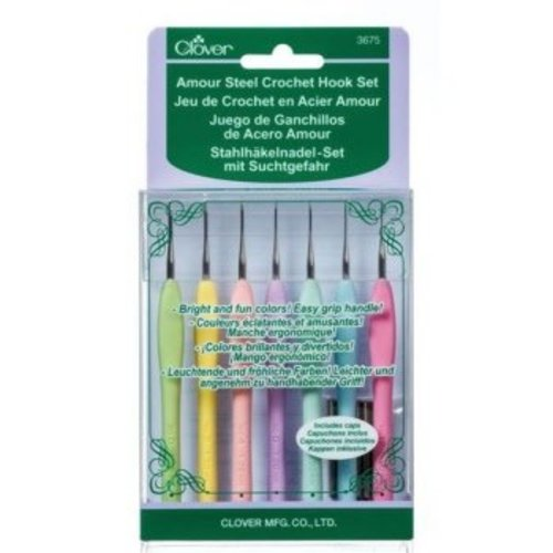 Clover SET - Clover Amour Soft Touch haaknaald - 0,6 tot 1,75 mm