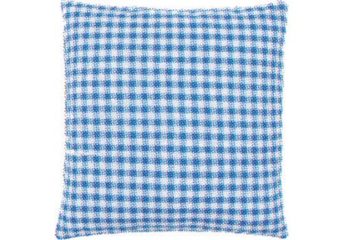 Vervaco Kussenrug met rits 30 x 30 cm - blauwe ruit