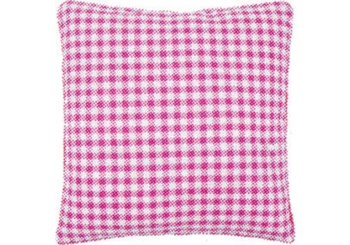 Vervaco Kussenrug met rits 30 x 30 cm - roze ruit