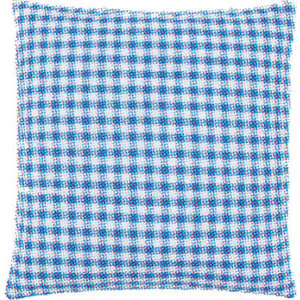 Vervaco Kussenrug met rits - 40 x 40 cm - blauwe ruit