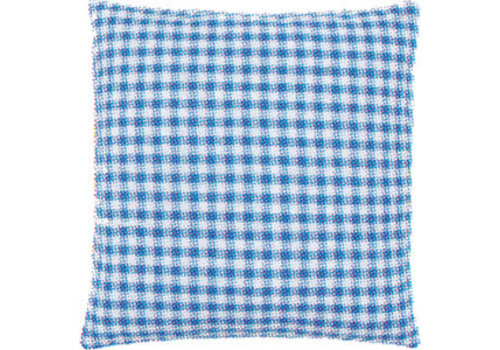 Vervaco Kussenrug met rits 45 x 45 cm - blauwe ruit