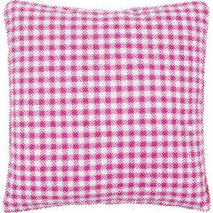 Vervaco Kussenrug met rits - 40 x 40 - roze ruit