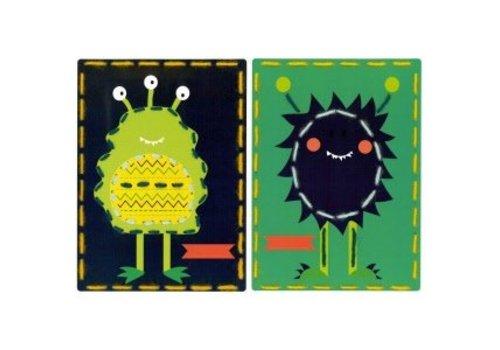 Vervaco Borduurkaart kit Ruimtemonsters set van 2