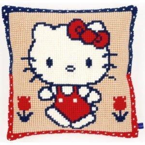 Vervaco Kruissteekkussen kit Hello Kitty op wandel