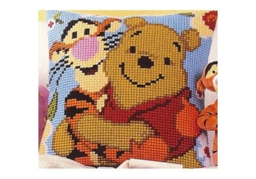 Vervaco Kruissteekkussen kit Disney Winnie en Teigetje