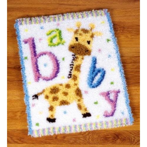 Vervaco Knooptapijt kit Baby girafje II